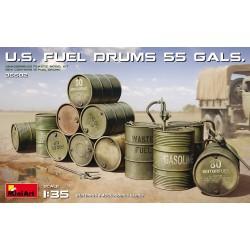 Miniart 1/35 U.S. Fuel Drums (55 Gals.)