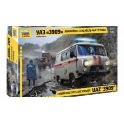Zvezda 1/43 UAZ 3909 Emergency Car