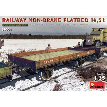 Miniart RAILWAY NON-BRAKE FLATBED 16,5 t 1/35