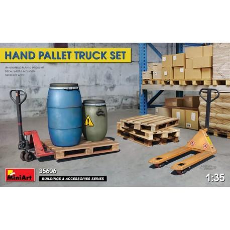 Miniart 1/35 Hand Pallet Truck Set