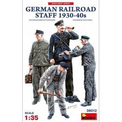 Miniart 1/35 German Railroad Staff 1930-40s