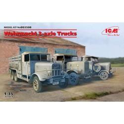 ICM: Wehrmacht 3-axle Trucks (Henschel 33D1, Krupp L3H163, LG3000) in 1:35
