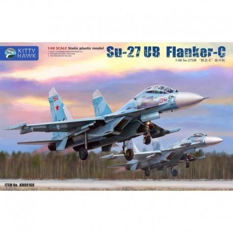 Kitty Hawk Su-27 UB Flanker C in1:48