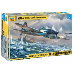 Zvezda 1/48 Soviet attack aircraft IL-2 Sturmovik