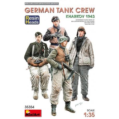 Miniart 1/35 German Tank Crew.Kharkov 1943. Resin Heads