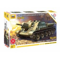 Zvezda 1/72 SU-122 Soviet Tank Destroyer