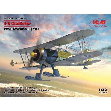 ICM: J-8 Gladiator, WWII Swedish Fighter in 1:32