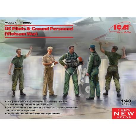 ICM: US Pilots & Ground Personnel (Vietnam War) (5 figures) in 1:48