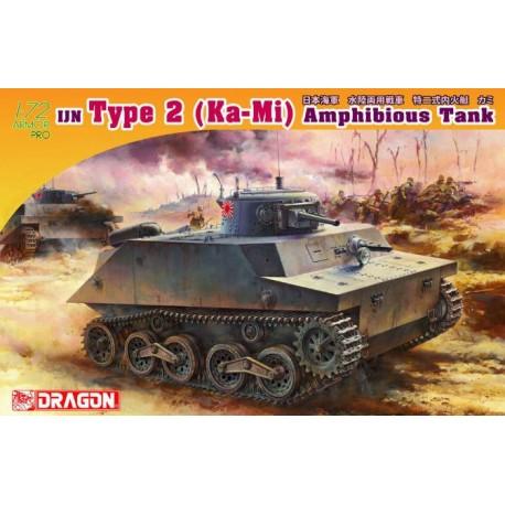 Dragon 1/72 IJN TYPE 2 KA-MI AMPHIBIOUS TANK