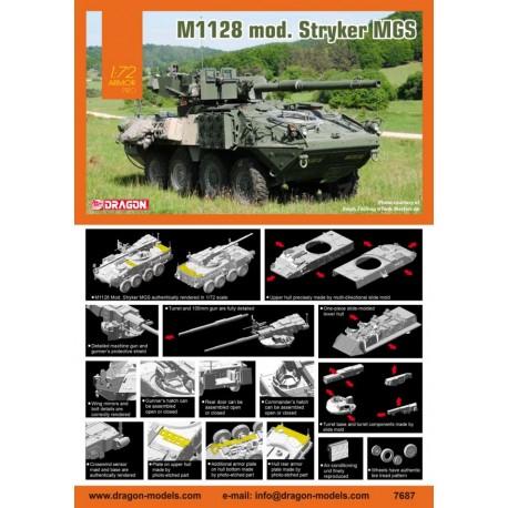 Dragon 1/72 M1128 Mod. Stryker MGS