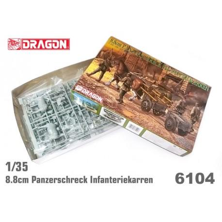 Dragon 1/35 PANZERSCHRECK INFANTERIEKARRE INCLUDE 5 FIGURE + CAVALLO