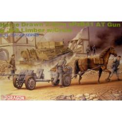 Dragon 1/35 HORSE DRAW.2.8cm sPzB41 AT GUN INCLUDE 3 FIGURE + CAVALLO
