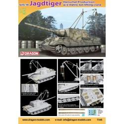 Dragon 1/72 JAGDTIGER HENSCHEL W/2 TON CRANE