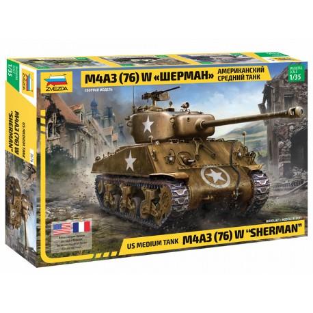 Zvezda 1/35 M4 A3 (76mm) Sherman Tank