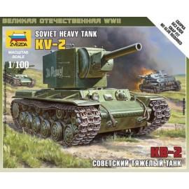 Zvezda 1/100 Soviet Tank Kv-2