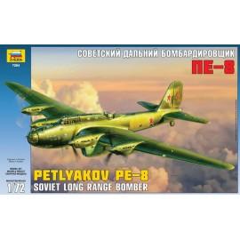 Zvezda 1/72 Pe-8 Soviet Long-Range Heavy Bomber WWII
