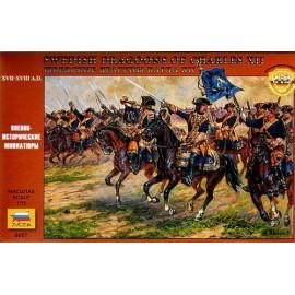 Zvezda Swedish Cavalry 17-18th cty Dragoons 1/72