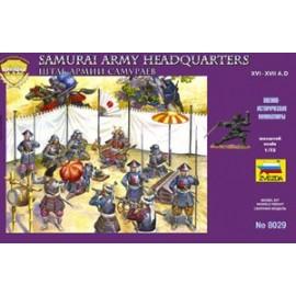 Zvezda Samurai Army Headquarters Staff 1/72