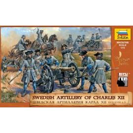 Zvezda Swedish Artillery Charles XII 1/72