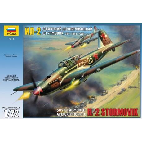Zvezda ILYUSHIN IL-2M SOVIET WWII GROUND ATTACK AIRCRAFT