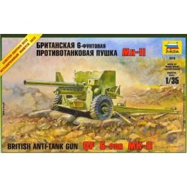Zvezda 1/35 British 6 Lb Mk-1 Gun