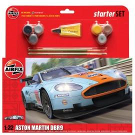 Airfix Aston Martin DBR9 Gulf - Large Car Starter Gift Set
