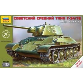 Zvezda 1/72 Soviet Tank T-34/76
