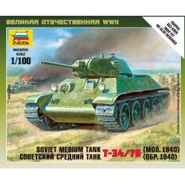 Zvezda 1/100 Soviet Tank T-34