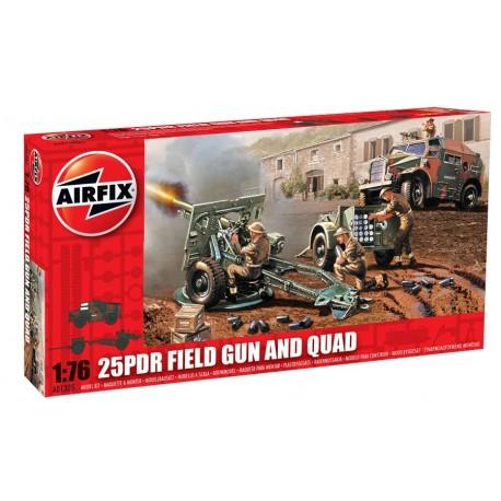 Airfix 25pdr Field Gun & Quad