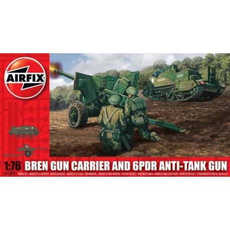 Airfix Bren Gun Carrier & 6pdr Anti Tank Gun