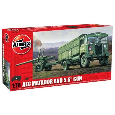 Airfix AEC Matador & 5.5' Gun