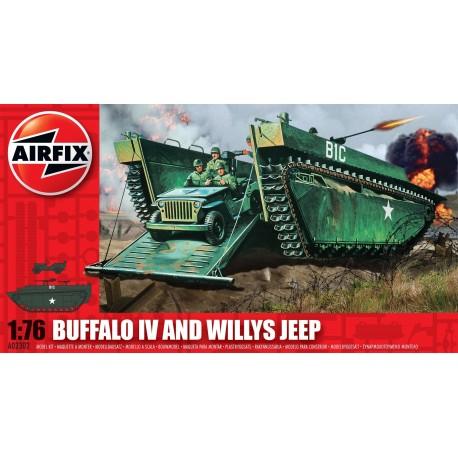 Airfix Buffalo Amphibian & Jeep