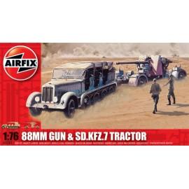 Airfix 1/76 88mm Gun & Sd Kfz7 Tractor