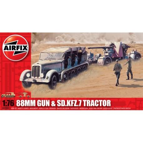 Airfix Flak 88mm Gun & Tractor