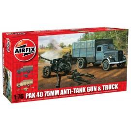 Airfix 1/76 PAK 40 75mm Anti-Tank Gun & Truck