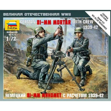 Zvezda German 81 mm Mortar with Crew