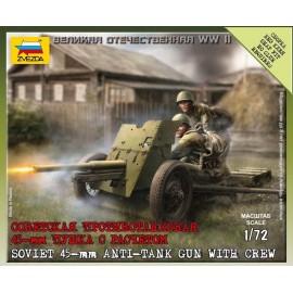 Zvezda 1/72 Soviet Gun 45 Mm
