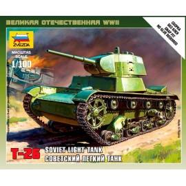 Zvezda 1/100 Soviet Tank T-26