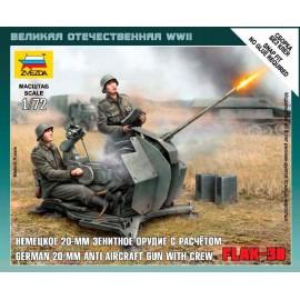 Zvezda 1/72 German Anti-Aircraft Gun With Crew