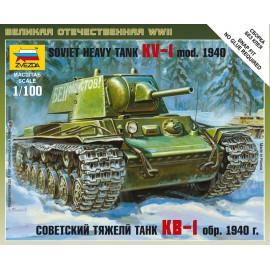 Zvezda 1/100 Soviet Heavy Tank Kv-1