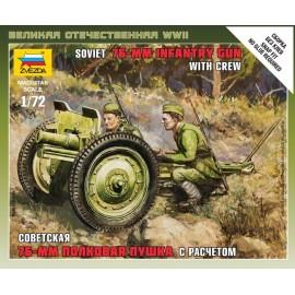 Zvezda 1/72 Soviet 76 Mm Gun