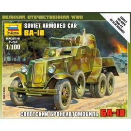 Zvezda 1/100 Soviet Armored Car Ba-10