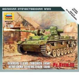 Zvezda 1/100 Panzer III Flamethrower Tank