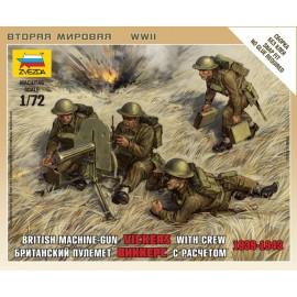 Zvezda 1/72 British Machine Gun W/Crew 39-42