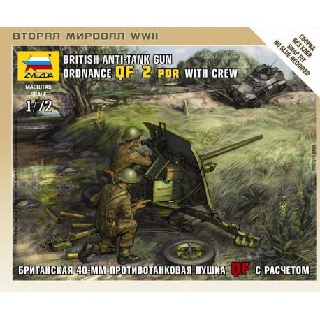 Zvezda British QF 2-pdr Anti Tank Gun w/crew
