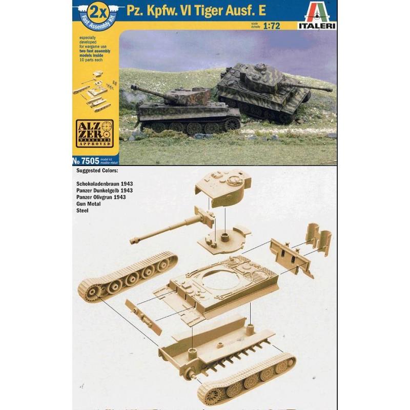 ITALERI 1//72 scale WW2 German PZ KPFW.VI TIGER 1 AUSF E tank