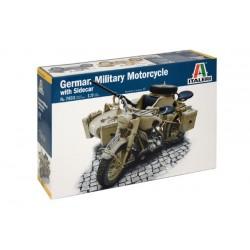 Italeri 1/9 BMW R75 German Military Motor w/Sidecar