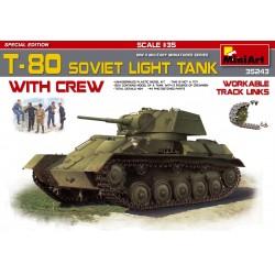 Miniart 1/35 T-80 SOVIET LIGHT TANK w/CREW SP. ED.