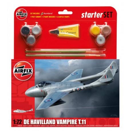 Airfix 1/72 DH Vampire TII Starter Set